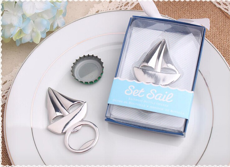 5 Ideas For A Great Beach Themed Wedding In Puglia: Wholesale Wedding Favor Sailboat Bottle Opener Beach