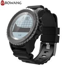 Купить с кэшбэком Men Professional GPS Sports Outdoor Smart Watch BOWANG IP68 Waterproof Dynamic Heart Rate Monitor Barometer Altimeter W20