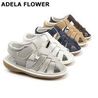 fde163c22 ... мальчиков пляжные сандалии кроватке малыша обувь летни. Adela Flower  Fashion Closed Toe Non Skid PU Squeaky Baby Boy Beach Sandals Toddler Crib  Shoes