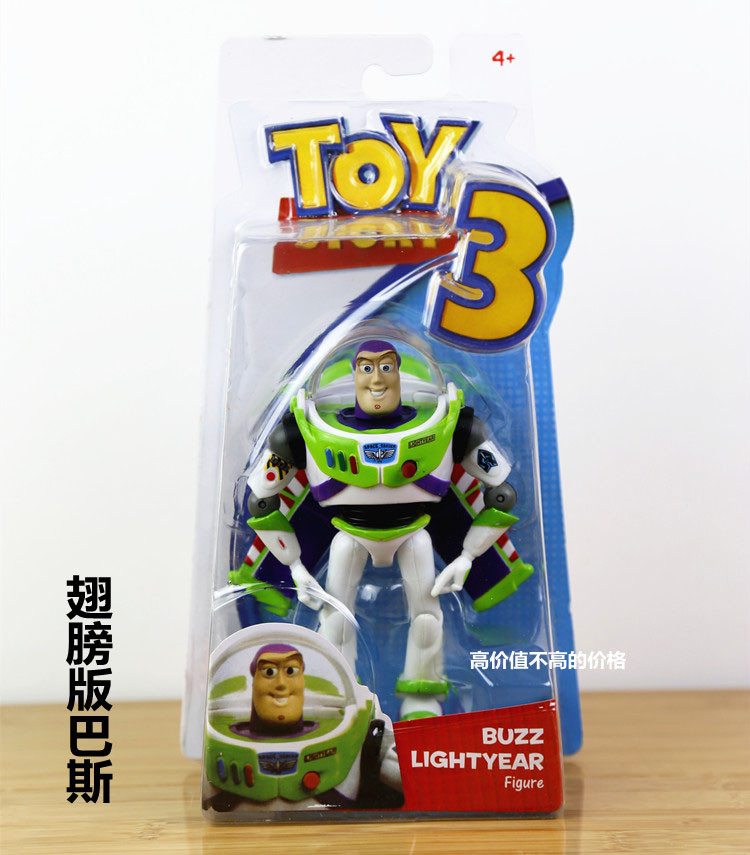 Anime Toy Story 3 Buzz Lightyear PVC Action Figure Collectible Model Toy Kids Gifts 14cm KT446 original toy story 3 buzz lightyear robot light voice elastic wings 30cm action music anime figure kids toys for children p2