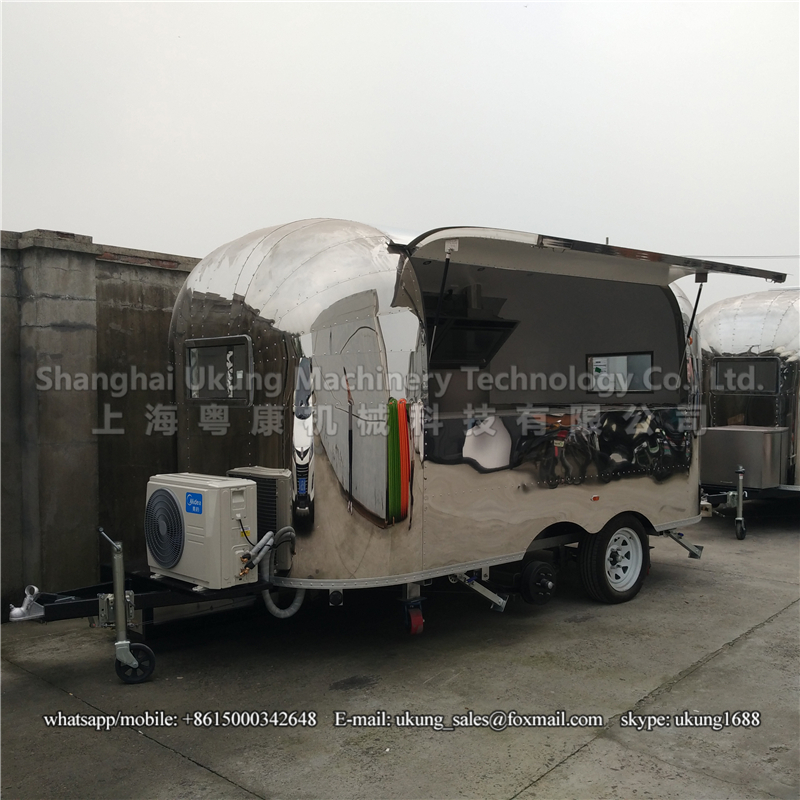 Trailer Ac Unit >> Us 10750 0 Ukung Ast 210 400cm Long 2 Axles With Ac Unit Airstream Stainless Steel Hot Dog Cart Mobile Food Trailer In Trailer From