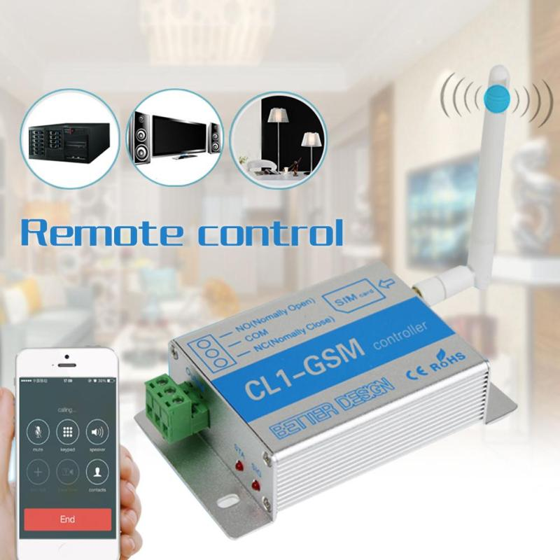 CL1-GSM GSM SMS Wireless Remote Control Relay Smart Switch Remote Relay Control Home Sec ...