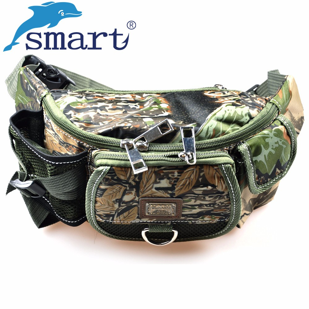 Smart New Fishing Bag 30x9x14cm Multifuncional Tackle de pesca al aire libre Mochila Bolsa de cintura impermeable Bolsa Pesca Envío gratis