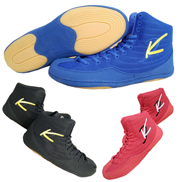 Boxing Shoes Grappling kung fu USA Wrestling Shoes Mens Breathable High-top Training Shoes boots gear adult child Size 36-45 health top soccer shoes kids football boots cleats futsal shoes adult child crushed breathable sport football shoes plus 36 45