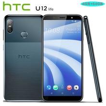 Новый htc U12 жизни, сеть 4G LTE, мобильный телефон, 6,0 дюймов Snapdragon 636 OctaCore 4 Гб Оперативная память 64 Гб Встроенная память 16MP + 5MP Камера Android 8,1 смарт-чехол для телефона
