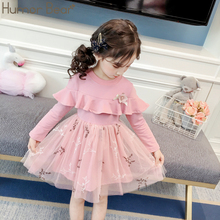 US $7.98 35% OFF|Humor Bear Children Clothes 2019 Autumn Girls Dress Baby Girl Princess Dress Long sleeved Lace Fashion Party Dress Girls Clothes-in Dresses from Mother & Kids on Aliexpress.com | Alibaba Group