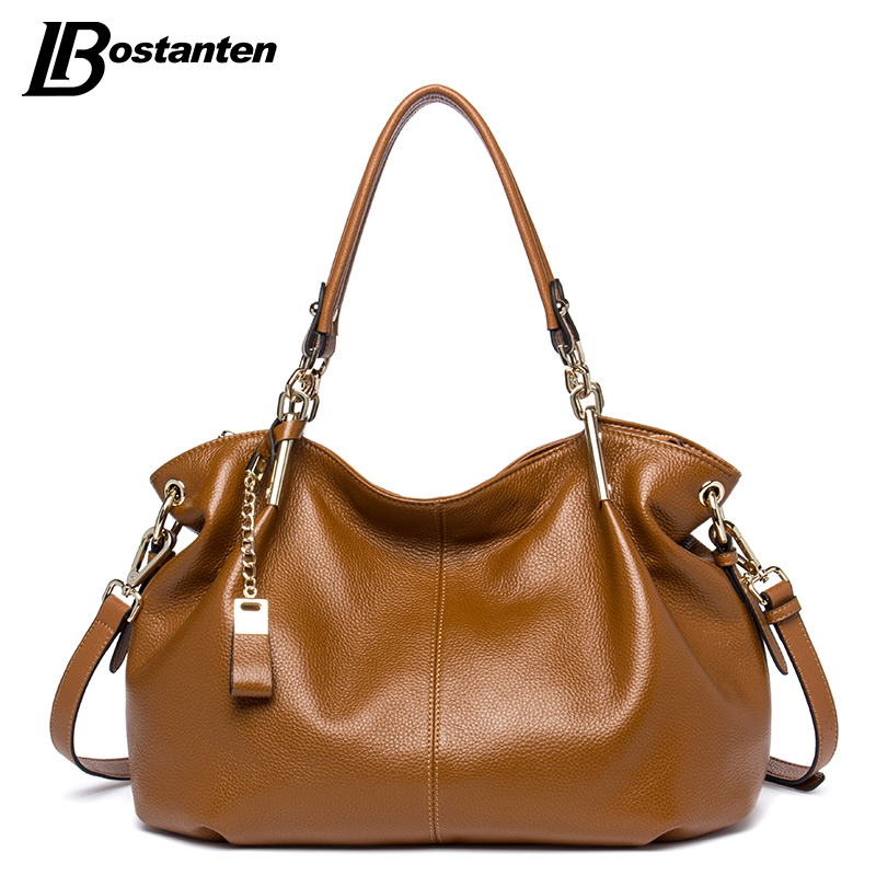 BOSTANTEN Casual Tote Women Shoulder Bags Cow Genuine Leather Women Bags Designe