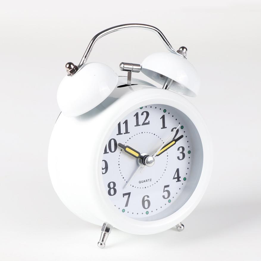 Vertrouwend Wandklok Tafel Klok Klassieke Eenvoudige Metalen Shell Twee-weg Bel Wekker Woondecoratie 5.7 100% Garantie