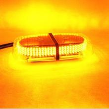 240 LED  Amber Emergency Hazard Warning LED Mini Bar Strobe Light w/ Magnetic Base