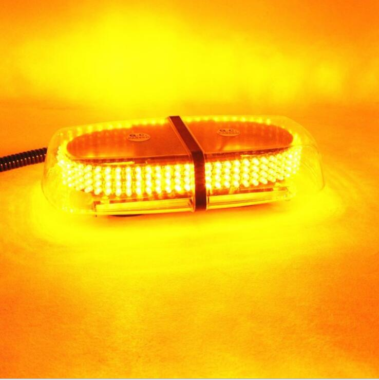 240 LED Amber Emergency Hazard Warning LED Mini Bar Strobe font b Light b font w
