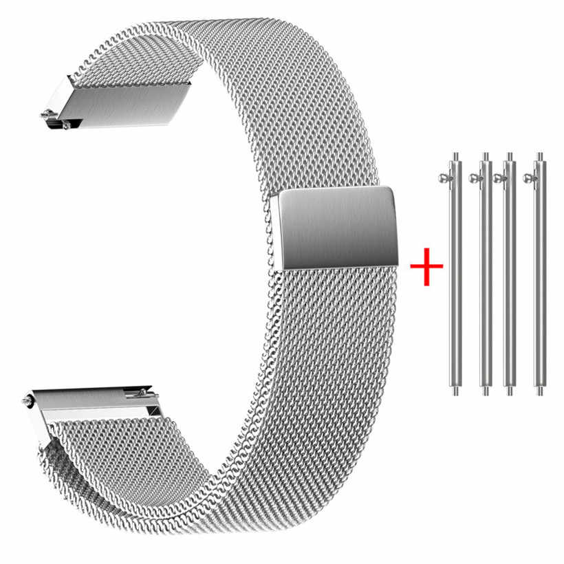 Universal Milanese Magnetic Loop Stainless Steel Watch Strap Bands 0622