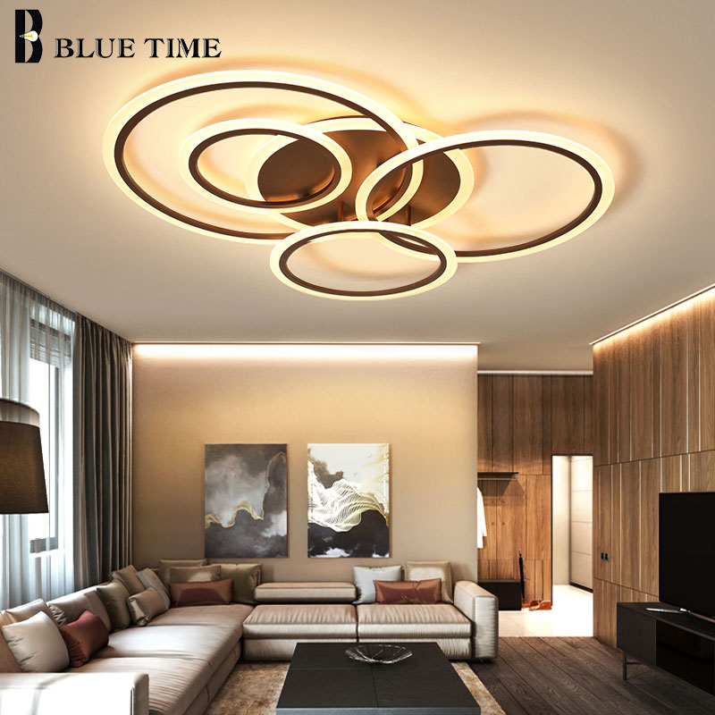 White&Coffee Finished Home LED Ceiling Lights For Living Room Bedroom Kitchen Dining room Modern LED Ceiling Lamps AC 110V 220VWhite&Coffee Finished Home LED Ceiling Lights For Living Room Bedroom Kitchen Dining room Modern LED Ceiling Lamps AC 110V 220V