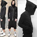Men and women of 2016 autumn winters OWENS new inclined zipper wizard hat hoodies pure color fleece jacket lovers