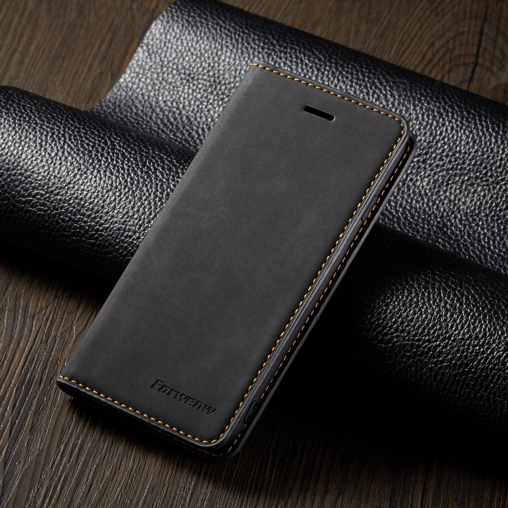 Magnet Leather Flip Case For IPhone 6 6s 7 8 Plus X XS Max XR 11 Pro Max 5 5s SE Wallet Cover Bookcase Card Holder Phone Bag