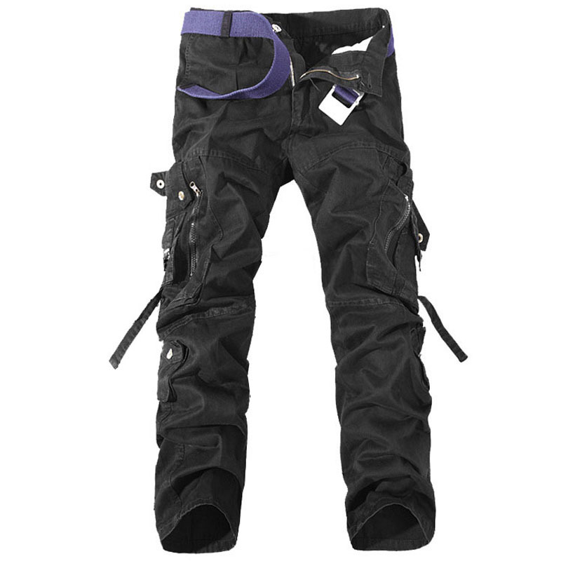 Men Military Cargo OutdoorSport Pants Multi Pockets decoration Outdoors Casual Long Pant Large Size 28-40 mens Trousers
