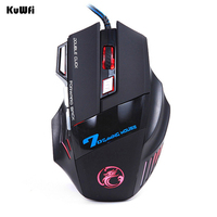 Professional Wired Mouse 7 Buttons 5500DPI LED Optical Gaming Mouse USB Cable Computer Mouse Gamer Mice for Desktop/Laptops
