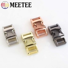 4pcs Meetee Metal Side Release Buckle 10mm Paracord Bracelet Dog Collar Webbing Belt Clip Clasp for Bags DIY Leathercraft