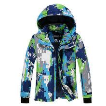 Waterproof Girls Ski Suit  Kids Camouflage Ski Jacket Ski Pants Windproof Snow  Jacket -30 Degree KL-7081 gsou snow ski jacket kids winter snowboard jacket hoodie girls super warm snow camouflage clothing children 30 degree sports
