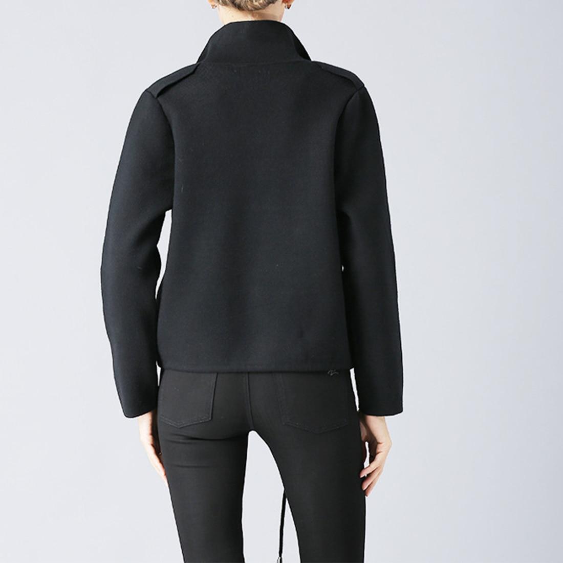 Women Jacket Autumn Winter 2018 New Oversized Padded Warm Coat Women Imitation Cashmere Coats black yellow