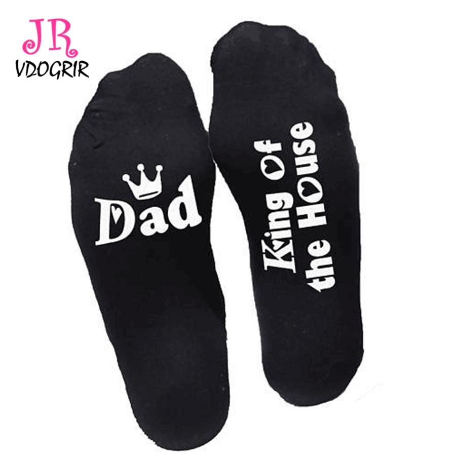 VDOGRIR Best Christmas Gift For Father White Men\'s Socks Dad/Mom ...