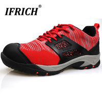 Summer 2019 Hiking Men Shoes Designer Red Men Shoes For Trekking Breathable Outdoor Climbing Shoes Anti Slip Man Hiking Trainers