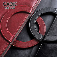 Black Red Business Zipper PU Leather Portfolio A4 Documents Folder Cases Manager Bag Tablet PC Mobile