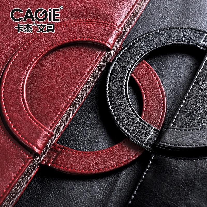 Noir rouge affaires fermeture à glissière en cuir PU portefeuille a4 documents dossier cas gestionnaire sac tablette PC mobile portefeuille