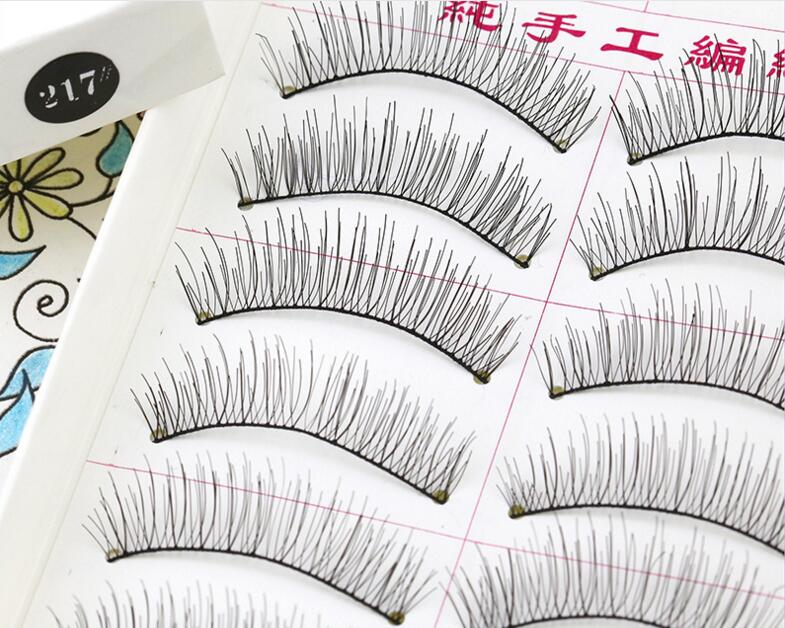 Beauty Essentials Back To Search Resultsbeauty & Health Faithful 217 Natural Crisscross Diy False Eyelashes Eyewinker As Handmade Fake Eyelashes Artificial Eyelashes For Personal Makeup Props Meticulous Dyeing Processes