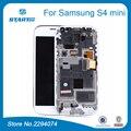 Peças de reposição para samsung galaxy s4 mini i9190 i9192 i9195 duos i9190 LCD Display Touch Screen Quadro Assembléia Black White azul