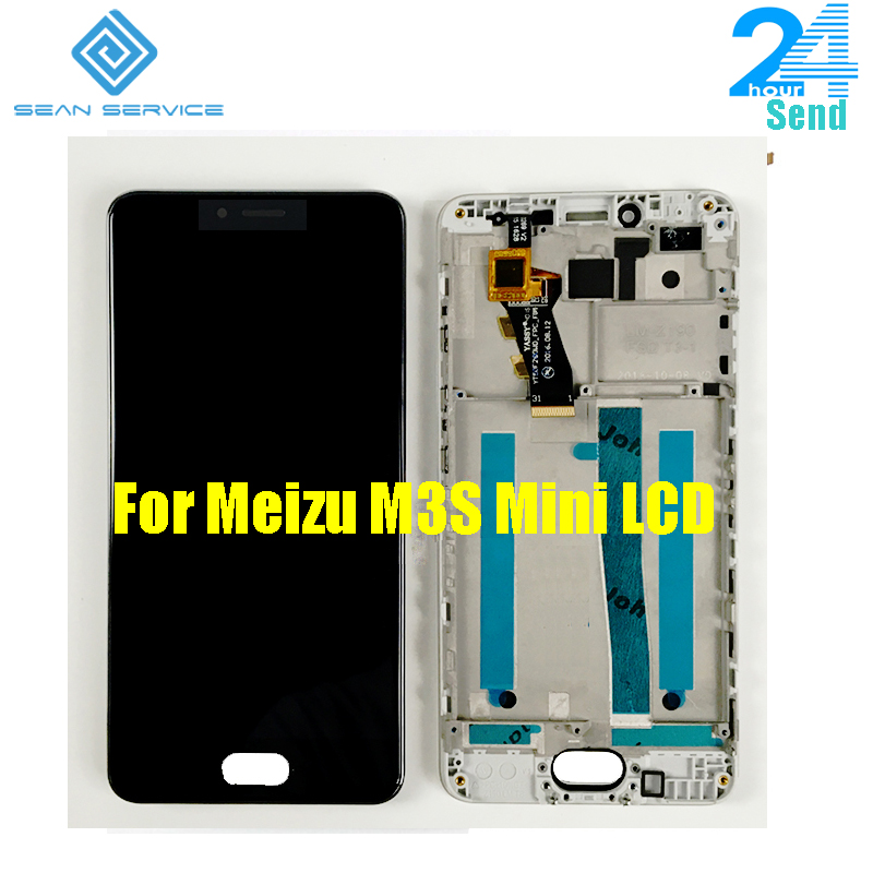 For <font><b>Meizu</b></font> <font><b>M3s</b></font> <font><b>Mini</b></font> Y685H Y685Q LCD <font><b>Display</b></font> With Touch Screen Digitizer Assembly Replacement With Frame 5.0 inch 1280*720P image