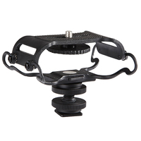 Music S BOYA BY C10 Universal Microphone And Portable Recorder Shock Mount Fits The Zoom H4n