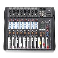 Professional караоке 8 канальный консоль DJ Звук Музыкальный ауодиопроцессор USB с bluetooth Запись Phantom 48 В Phantom мощность Jack