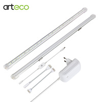 50CM 2PCS LED Bar Light With 24V Adapter TOUCH SENSOR Dimmer Seamless Connecting Ultra Thin Rigid LED Strip Kitchen Decoration