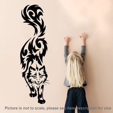 Art design Cat Wall Sticker home decor vinyl Cartoon cats Decals removable animal decals for kids room free shipping