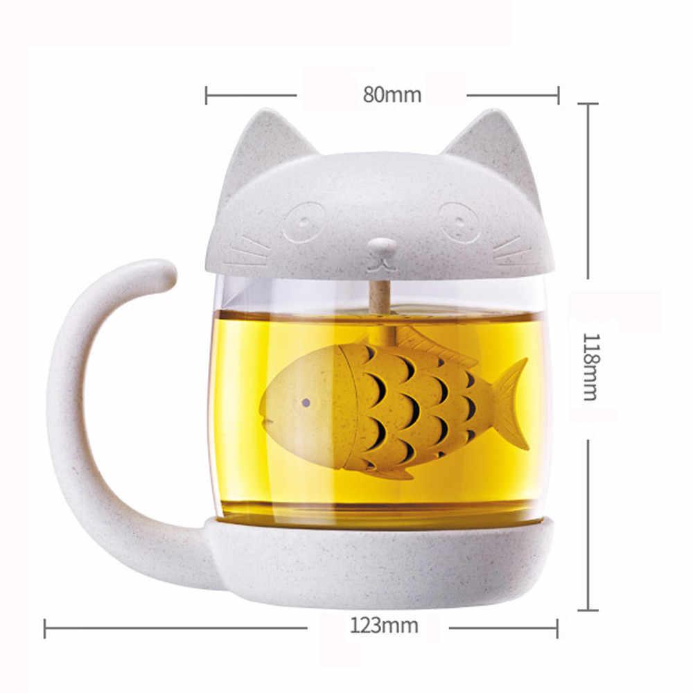 HSU 2019 ホット販売カップかわいい猫リトル猿ガラスカップフィルターカップとバブル抽出