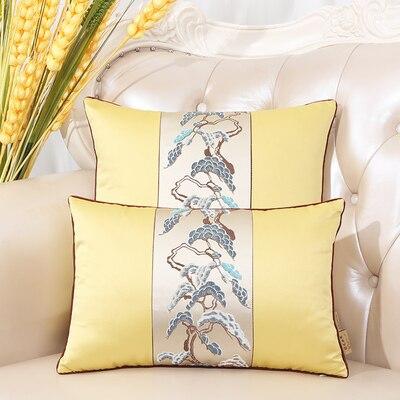 Последние европейские декоративные Чехлы для дивана, кресла, спинки, поясничная Подушка, роскошный Шелковый атласный чехол для подушки - Цвет: Цвет: желтый