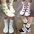 Venta al por mayor encantadora calcetín de algodón para mujer linda fruta diseño calcetines de algodón térmico caliente calcetines ocasionales 20 unidades = 10 par/lote GW-18