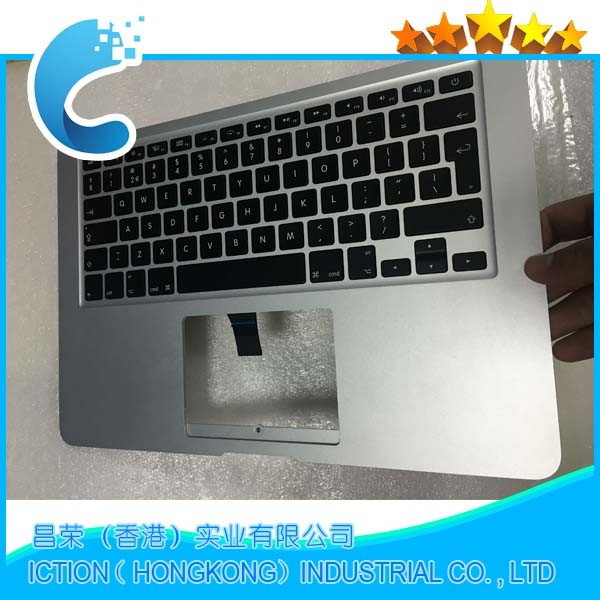 Original New For Macbook Air 13 A1466 Topcase US Layout Upper Top Case Palmrest For Mid 2013 Early 2014 2015 MD760 MD761 genuine new 593 1604 b 923 0441 for macbook air 13 inch a1466 trackpad touchpad ribbon flex cable 2013 2014 2015 year