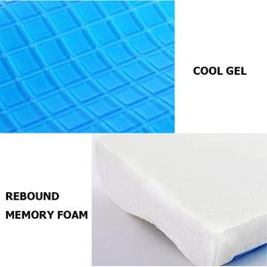 Image 5 - Memory Pillow Foam White Bed Gel Pillow Cooling Orthopedic Cushion for Sleeping Travel Neck Fatigue Relief Outdoor Tool