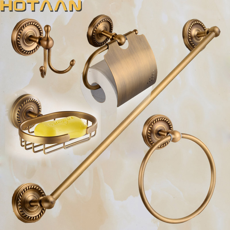 2017 Free Shipping,solid Brass Bathroom Accessories Set,Robe Hook,Paper  Holder,