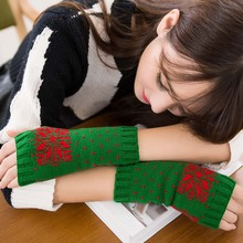 √ 2019 Новые Зимние Теплые Перчатки Снежинка Половина Пальцев Варежки Перчатки Без Пальцев для  √