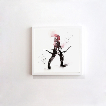 Abstract Modern Hawkeye Superhero Decorative 50X50CM Painting Watercolor Paintings Minimalist Home Furnishing Jewelry