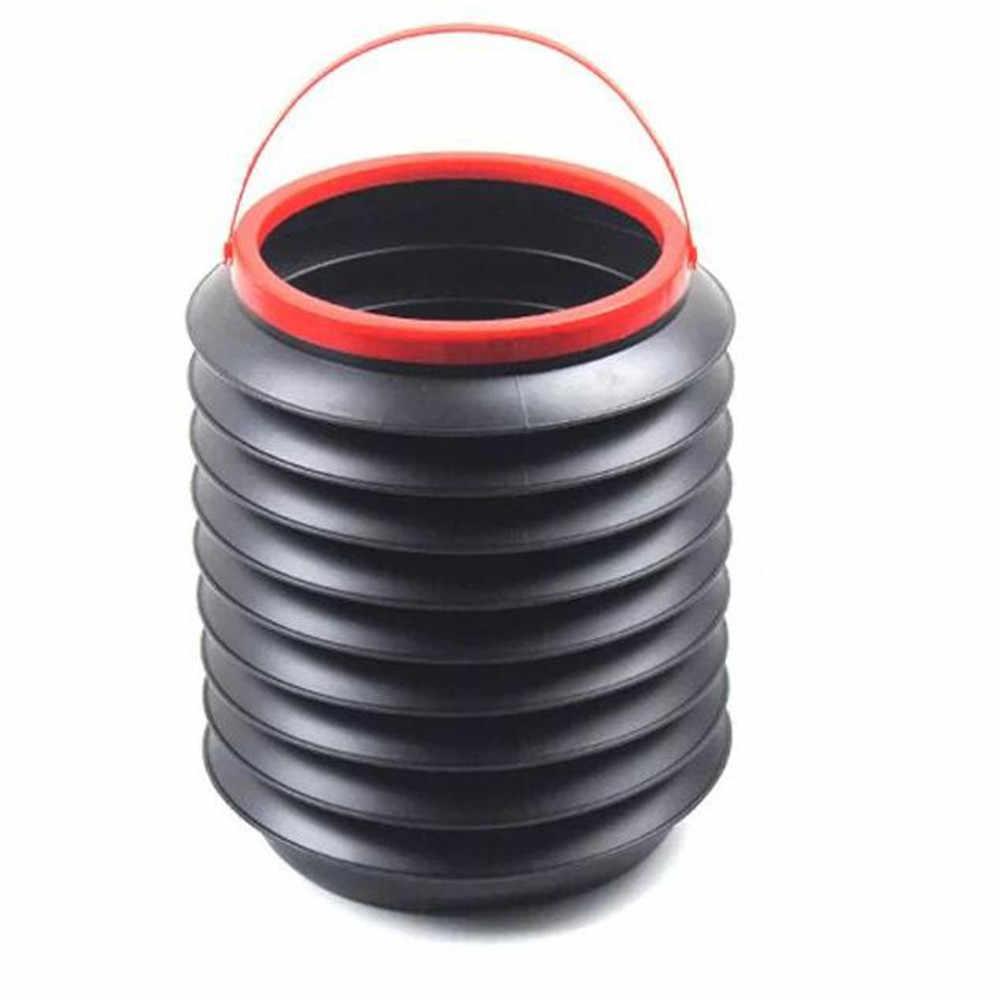 AB/_ FP 4L Foldable Retractable Car Container Barrel Trash Bin Storage Bucket Ca