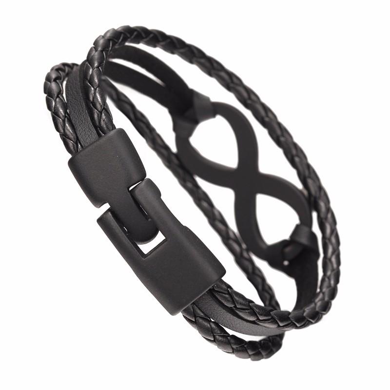 Bracelet en cuir style infinity, très tendance