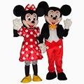 Горячая Продажа Микки и Минни Мышь Для Взрослых Костюм Талисмана Партии Одежды Fancy Dress