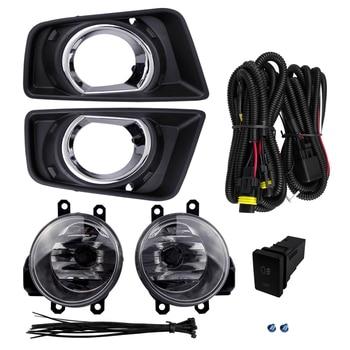 Socket Styling Waterproof Fog Light Assembly Plating Cover For Toyota Hilux Revo 2015 4300K 12V 55W High Power Flashing Light
