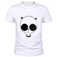 Cartoon panda image printing men's T-shirt Men's fashion short sleeve cute panda printed t-shirt funny tee shirt cool tops 2-59#