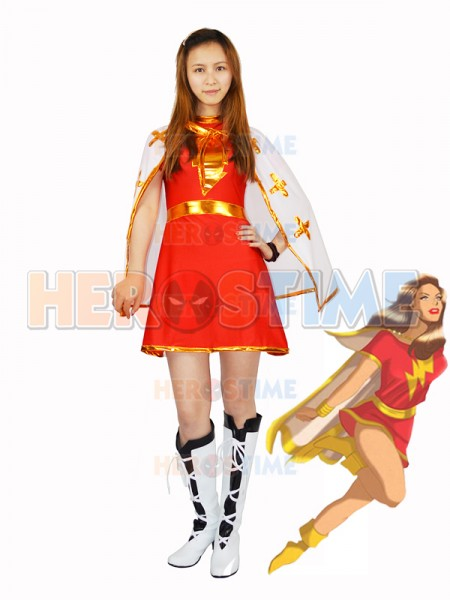 Family Mary Costume Spandex Superhero Cosplay  Costume Halloween Party Cosplay Suit Custom Made Available