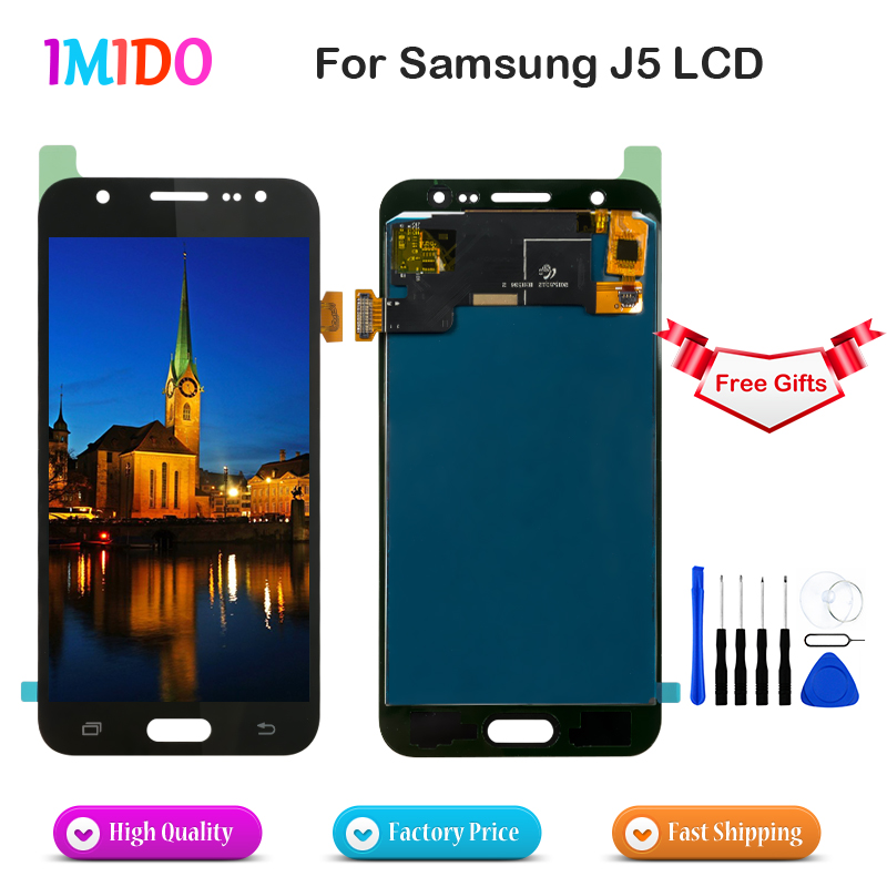 10Pcs Lot LCD Screen For Samsung Galaxy J5 2015 J500 OEM Display Digitizer Assembly For Samsung