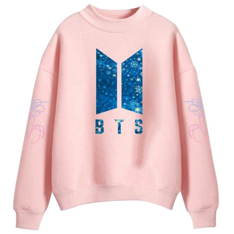2018 BTS Boys Sweatshirt Women Hoodies Love Yourself Bts Print Sweatshirt Women Pullovers Kpop Korean Style Casual Pullovers